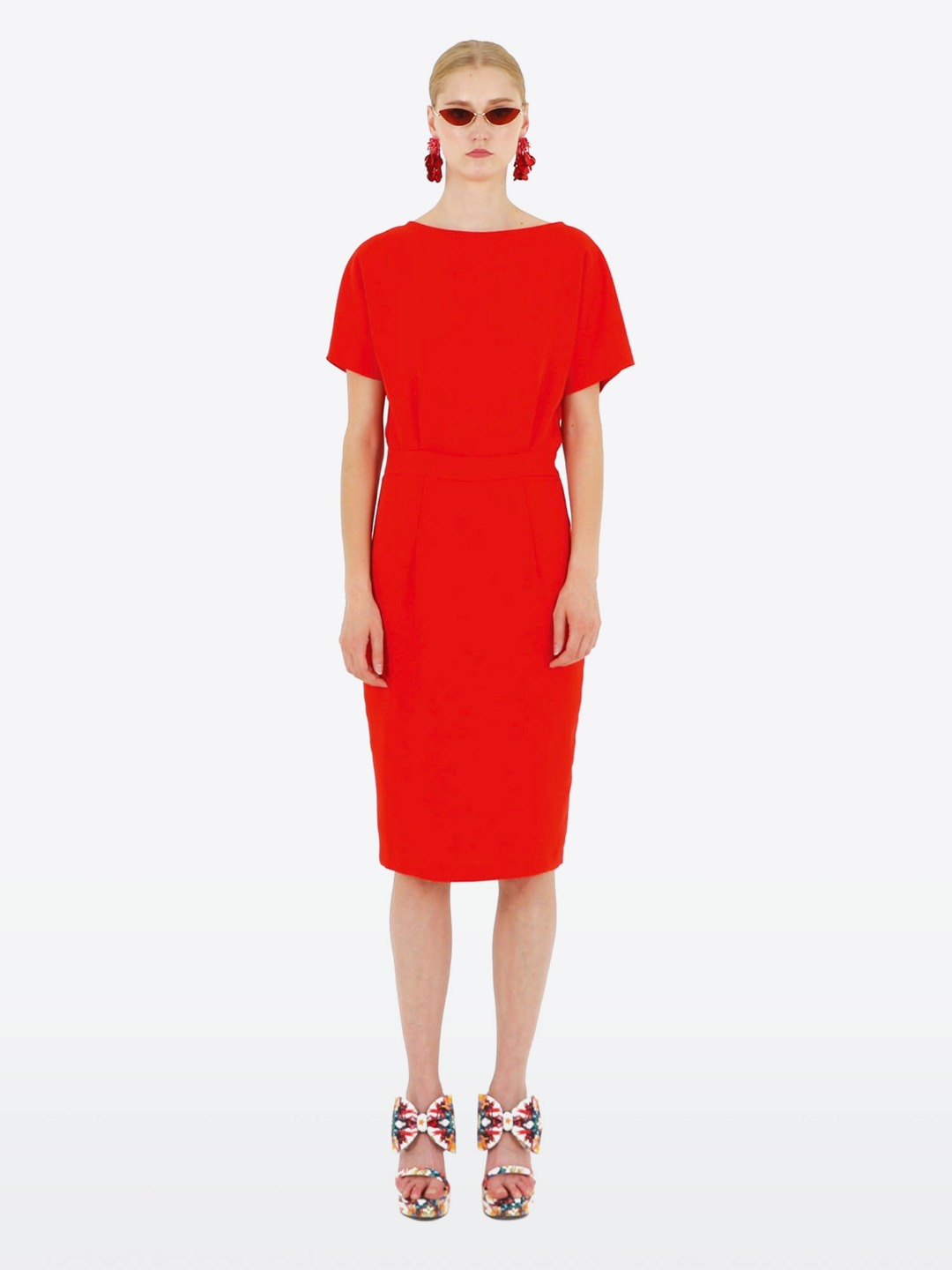 OPEN BACK RED OPS DRESS
