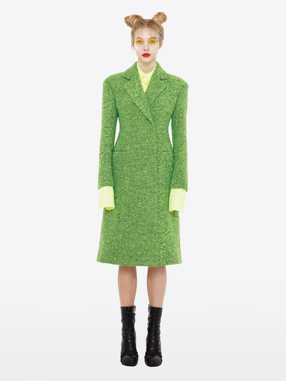 APPLE GREEN LONG COAT