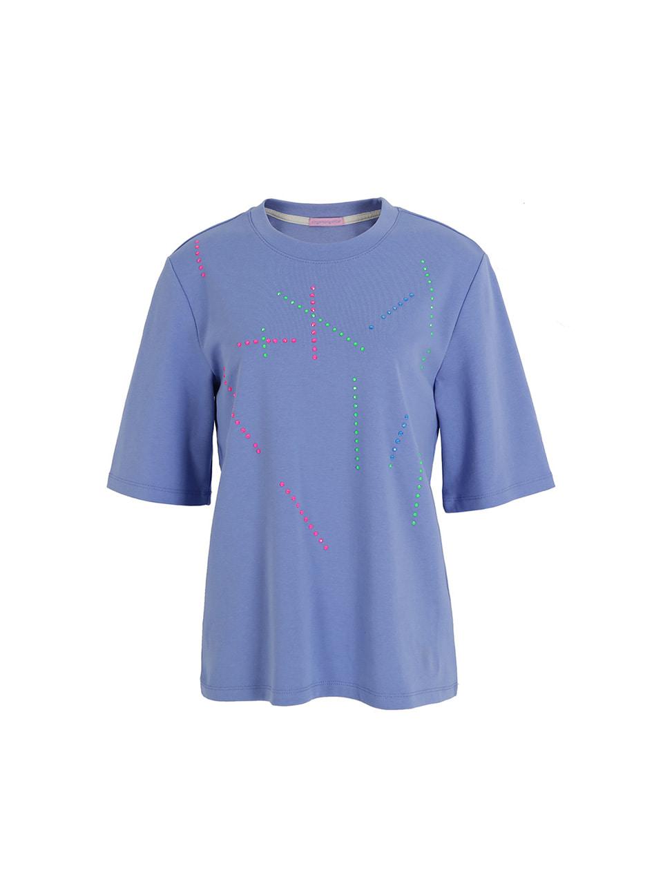 스와로브스키 티셔츠-블루