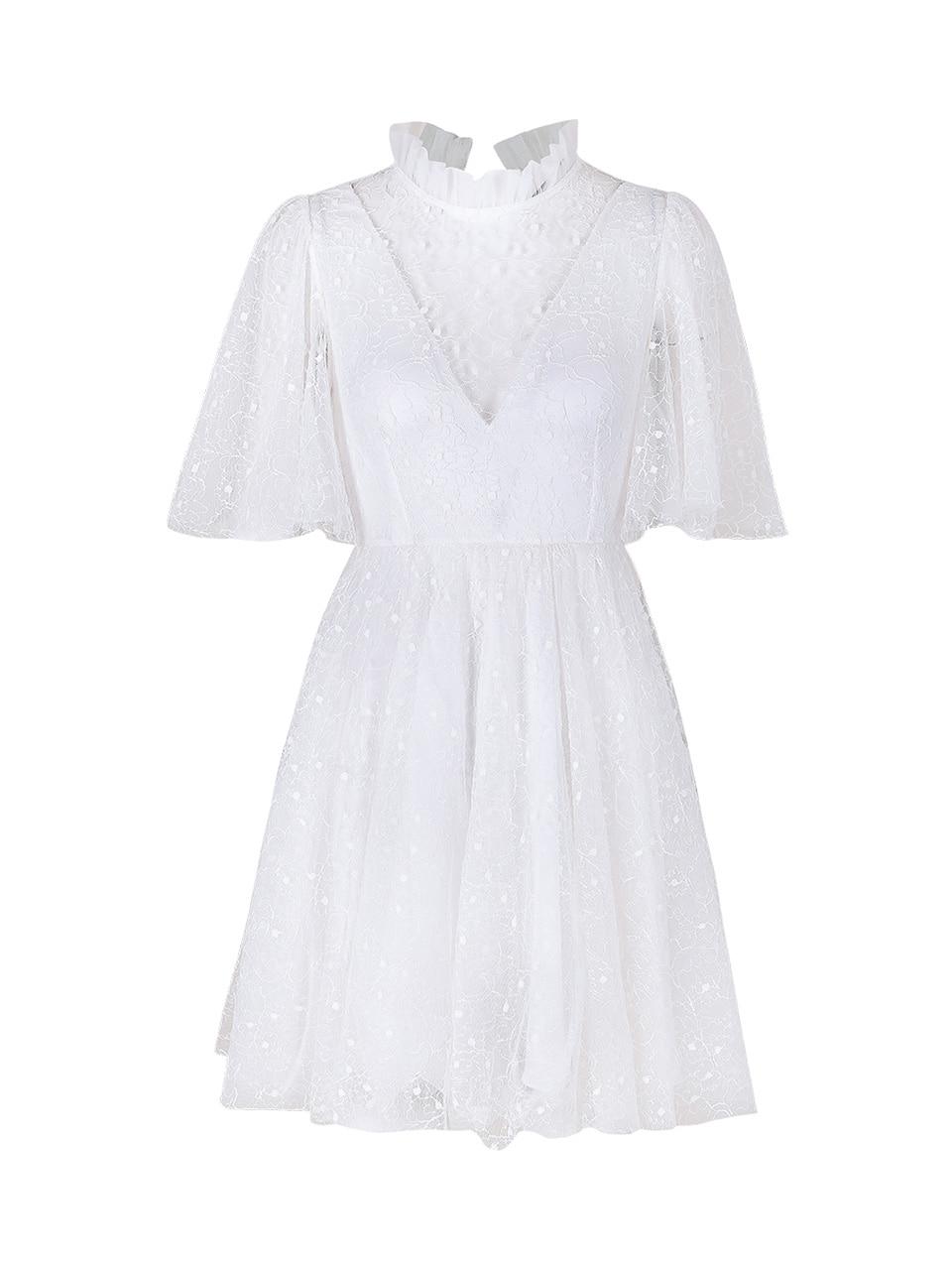 GUKAWinni see-through Short Dress