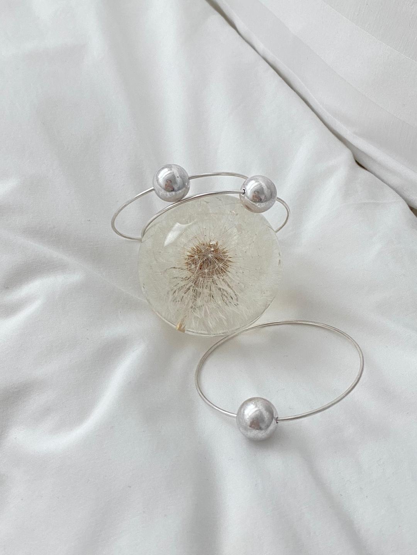 FOUNDᐝ Pearl silver bangle
