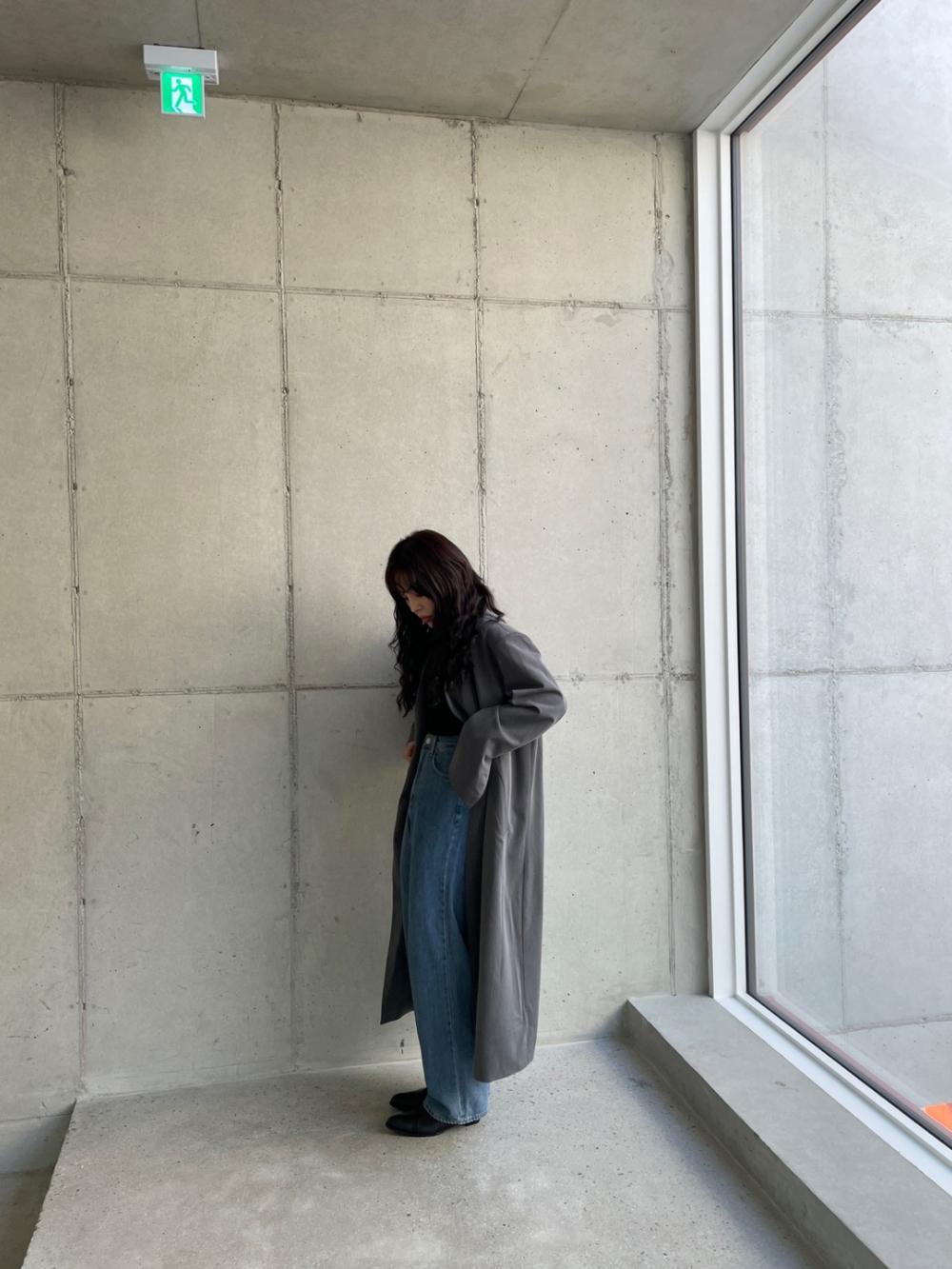 코트 모델 착용 이미지-S1L25