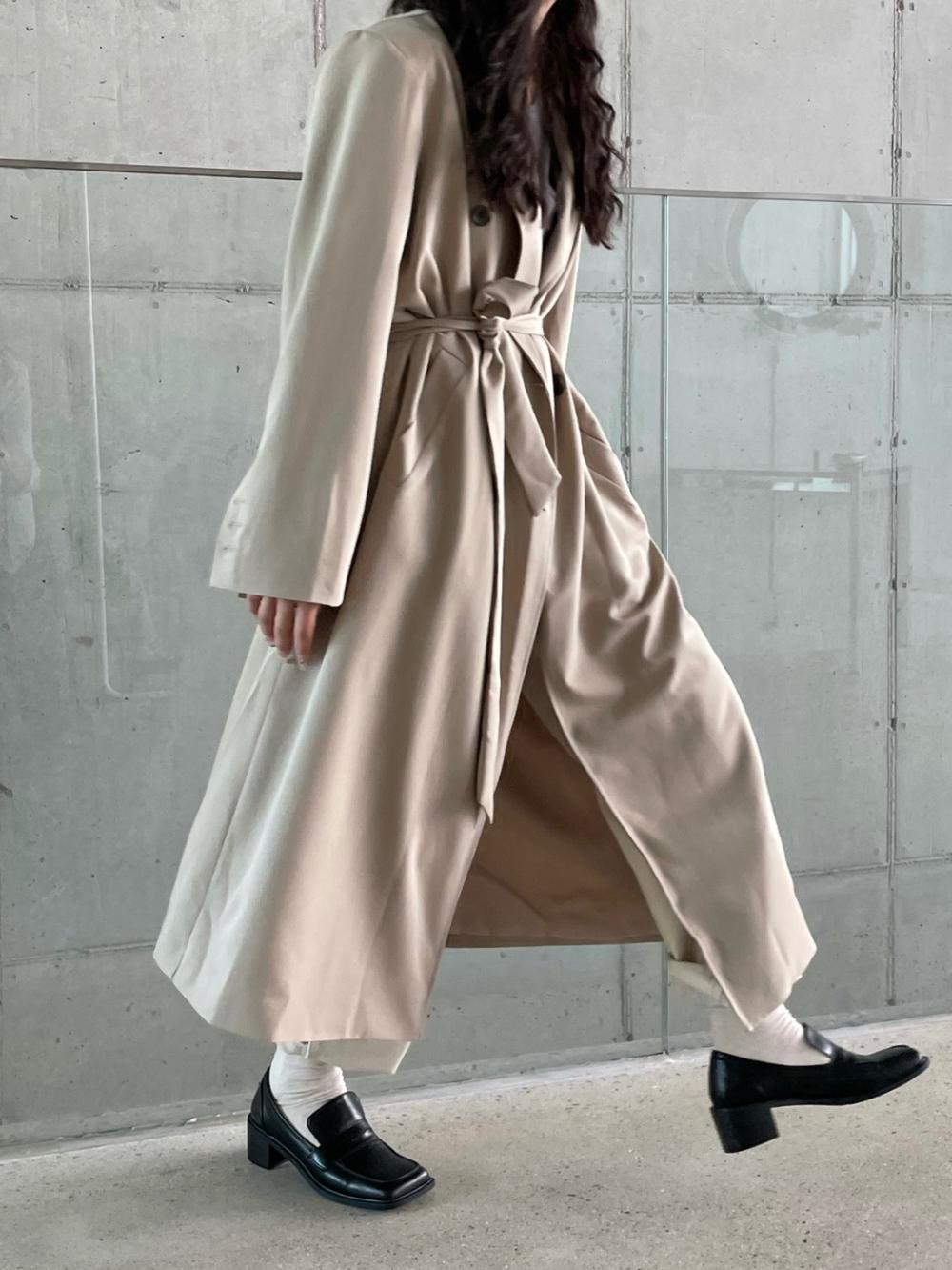 코트 모델 착용 이미지-S1L52