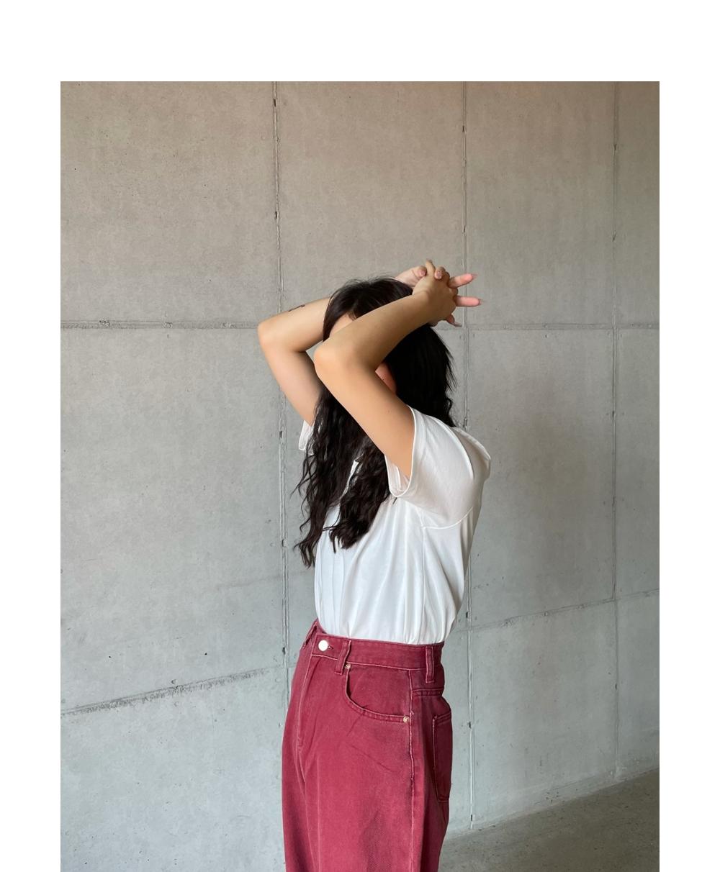 반팔 티셔츠 모델 착용 이미지-S2L8