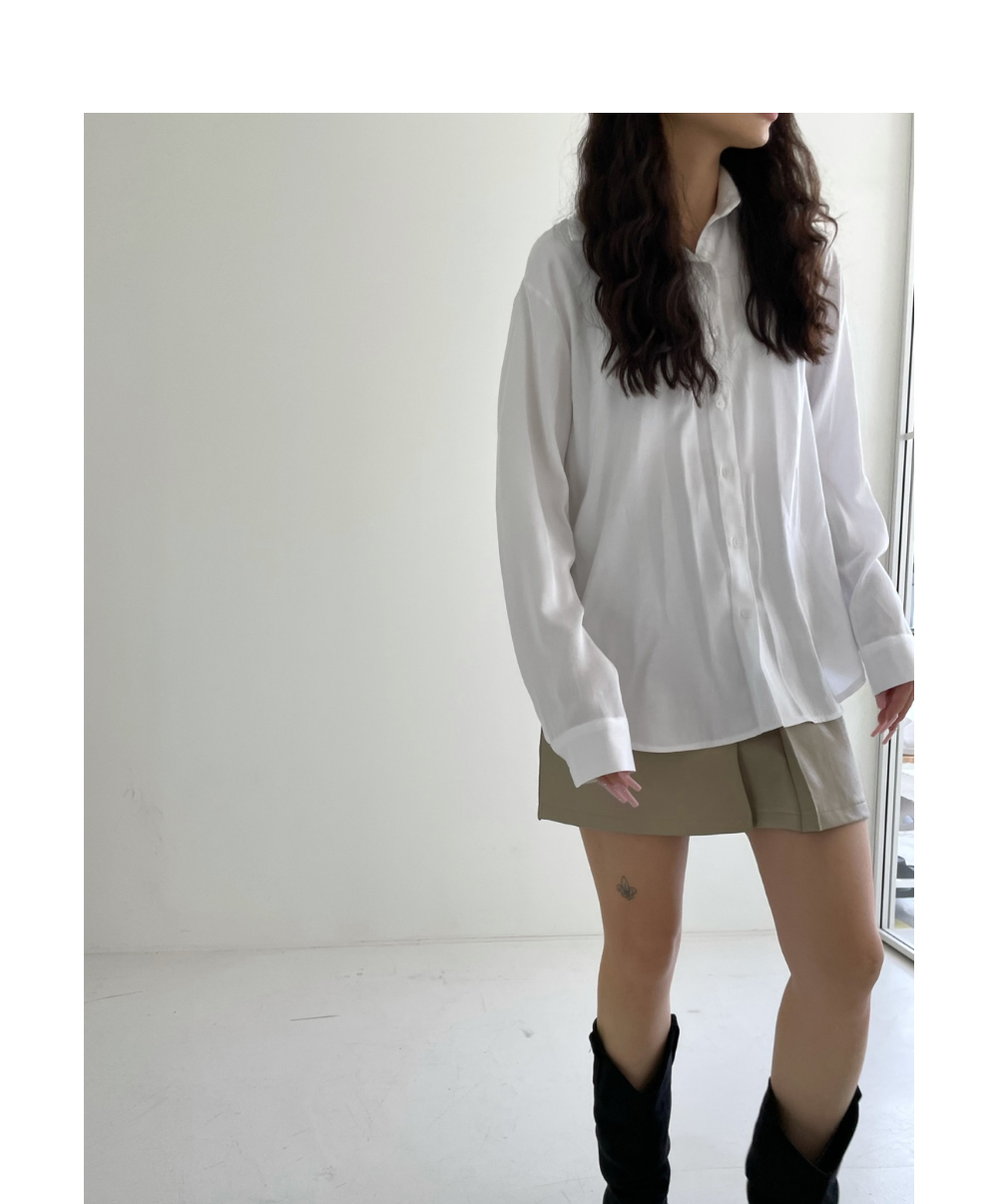 미니 스커트 모델 착용 이미지-S1L61