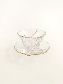 Gold Brush Teacup Set