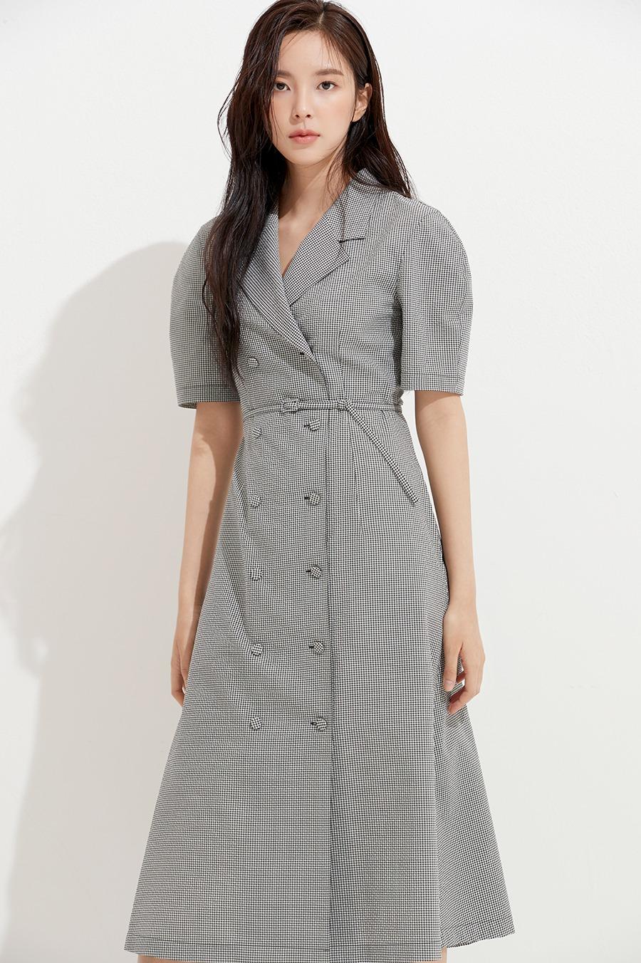 NO.5 DRESS - CHECK