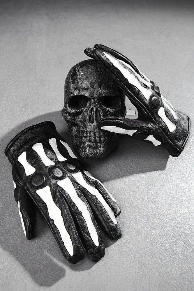 ByTheR 骷髅关节个性手套