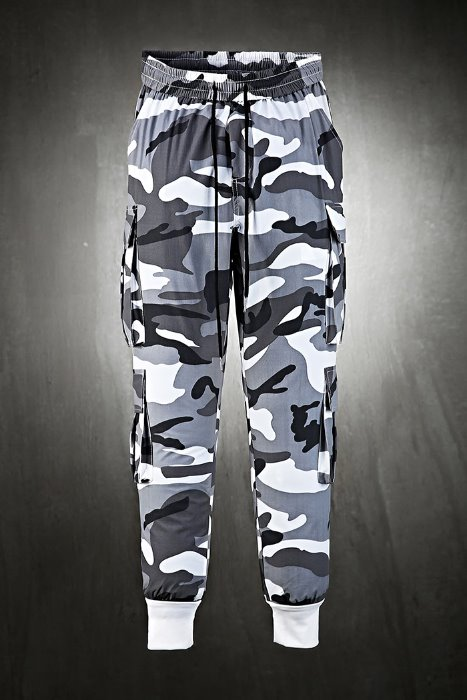 4-pocket cooling jogger pants with Military printing