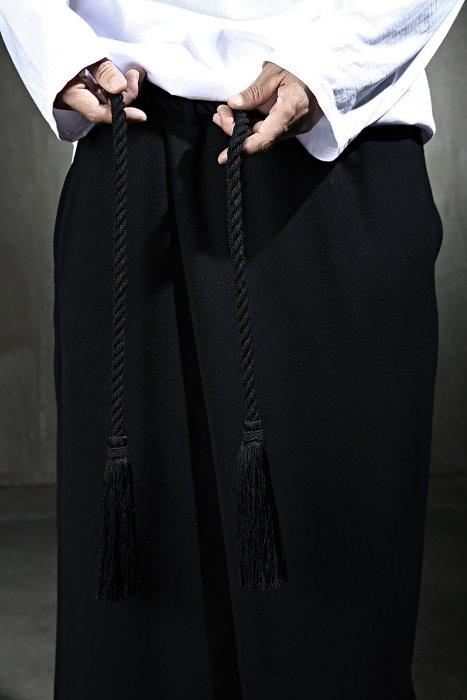 ByTheRMukha Tassel Bold Dark Rope Belt