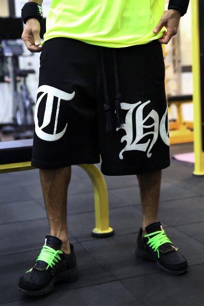 ByTheR Big Lettering logo Baggy Shorts