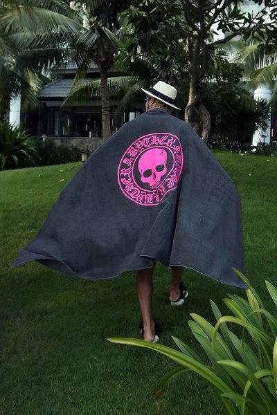 ByTheR Iconic Skull Logo Beach Towel