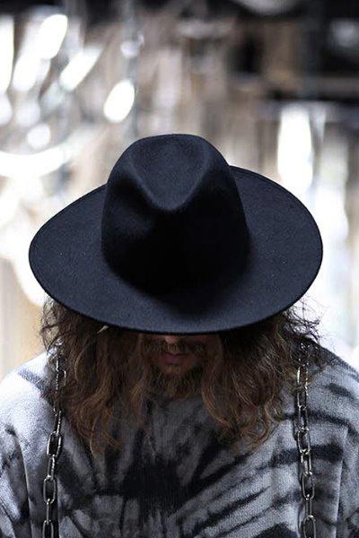 ByTheR Noir Wool Felt hat