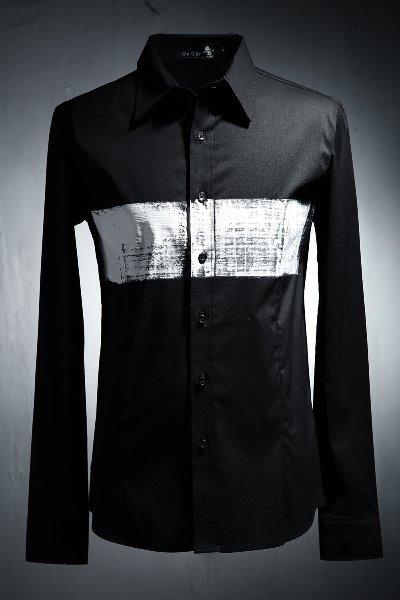 ByTheR Custom 센터 라인 페인팅 셔츠