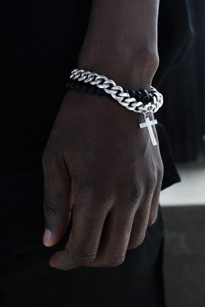 Cross Pendant Chain Bracelet