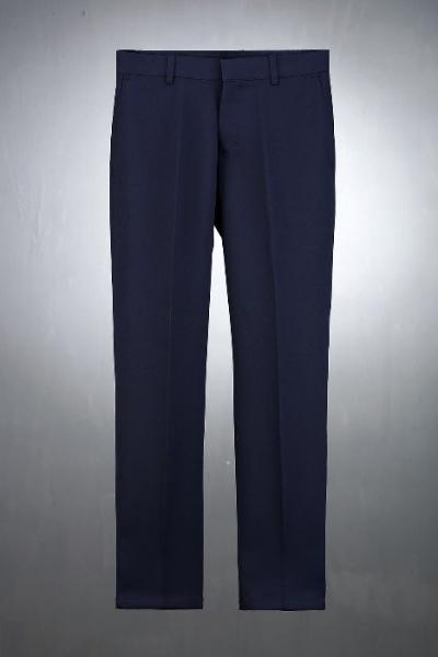 深蓝色紧身直筒宽松裤