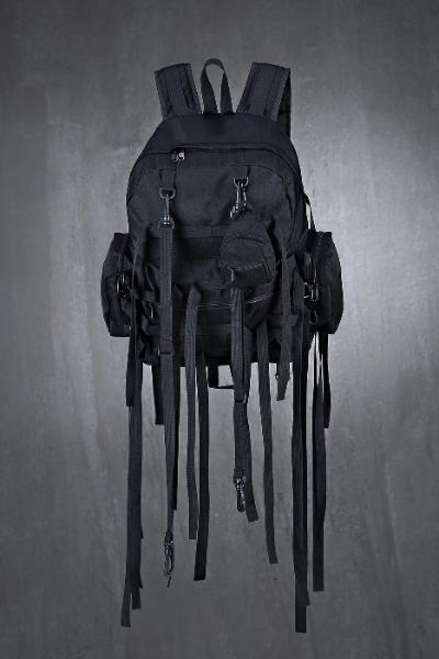Multi Pocket Strap Mini Backpack