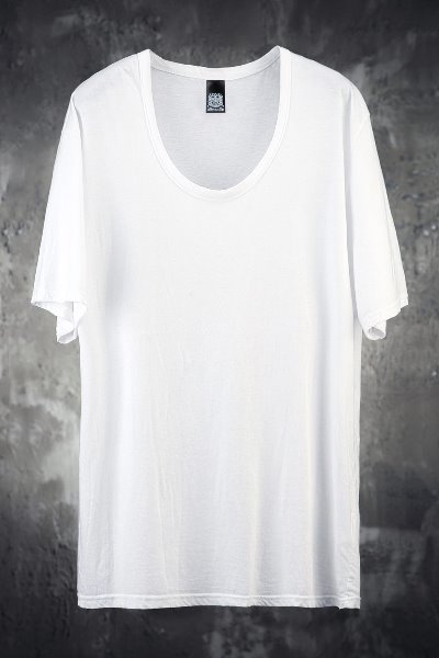 Mukha 루즈 라인 U넥 반팔 티셔츠