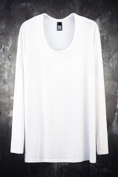 Mukha loose line U-neck T-shirt