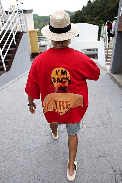 A Man's Back printed Short Sleeve Tee