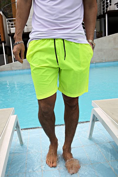 Neon Color Short Pants with Elastic Waist band