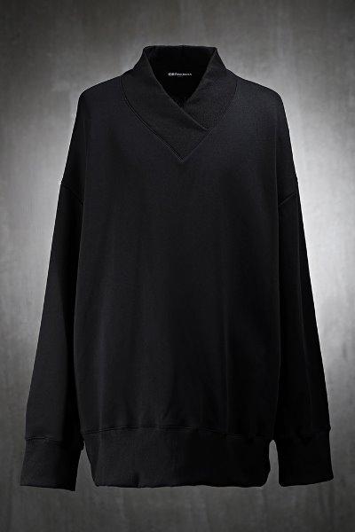 Mukha Embroidery High Band V-Neck Sweatshirt