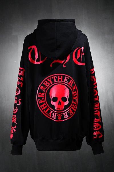 ByTheR symbol slogan lettering loose fit hoodie