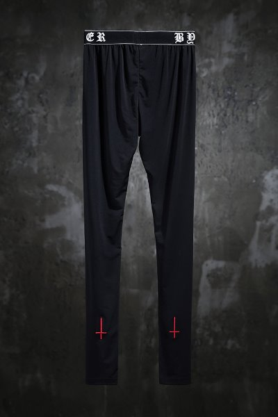 ProjectR Red Cross Embroidered Leggings