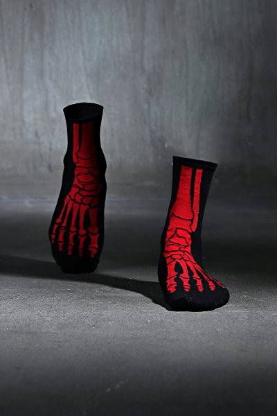 ByTheR Red X-Ray Socks