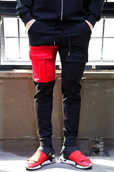 Pocket Color Banding Jogger Pants