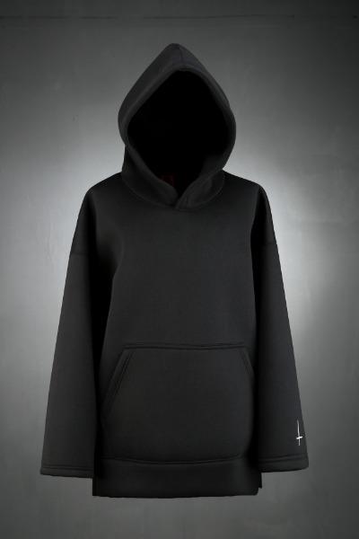 ProjectR Cross Embroidry Neoprene hoodie