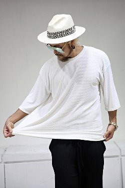 ByTheRVertical Textured Crew Neck Loose Fit Short Sleeve Tee