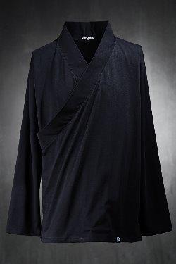 ByTheRカシュクールネックスリット長袖Tシャツ