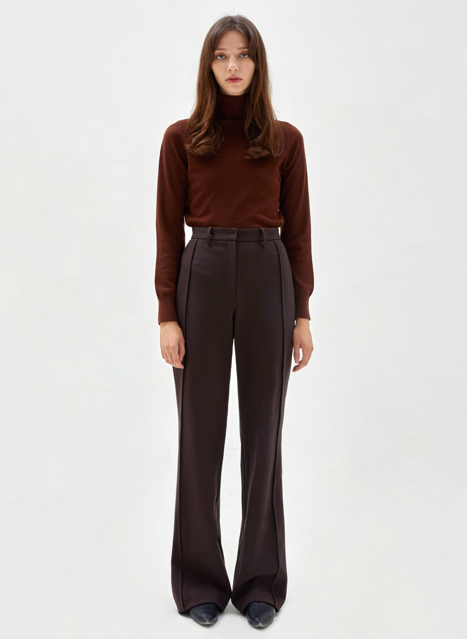 [2nd Re-Order 10/18] Lined boots cut trousers brown