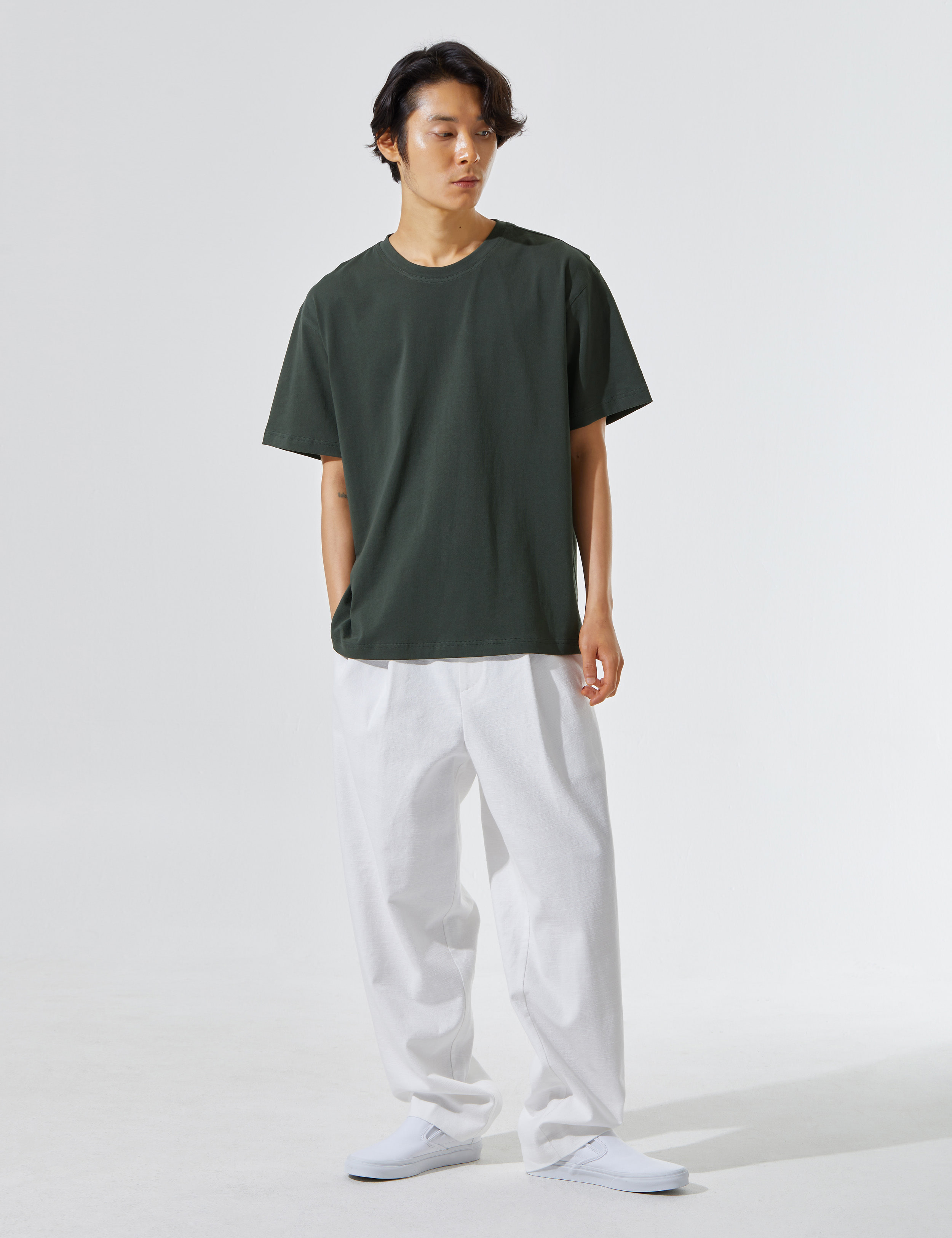 N.7 Undetailed pants White