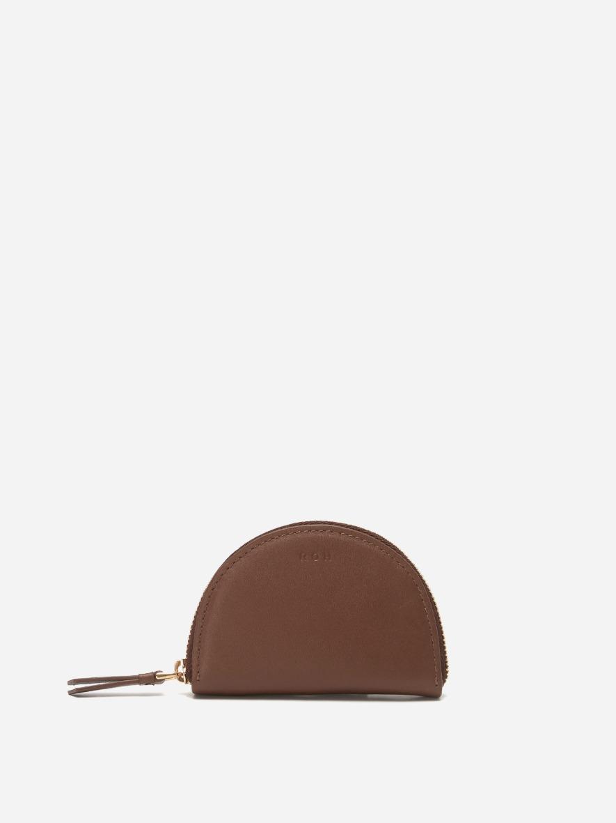 Half moon coin zip wallet Smoky Tan