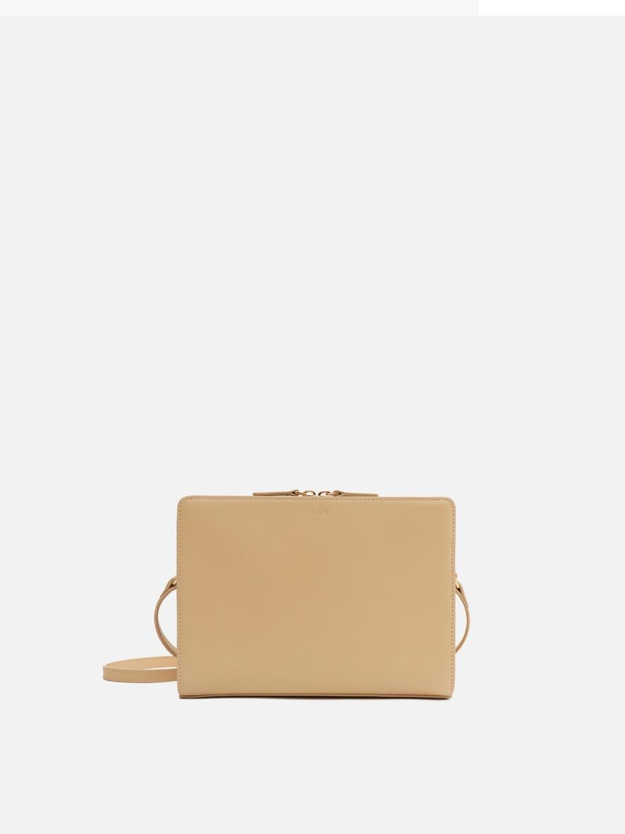 Square medium shoulder bag Light ocher