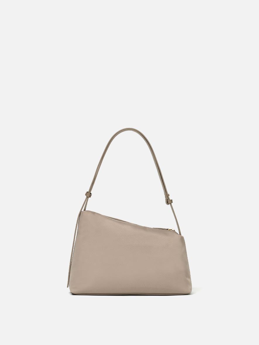 Rowie nylon shoulder bag Beige