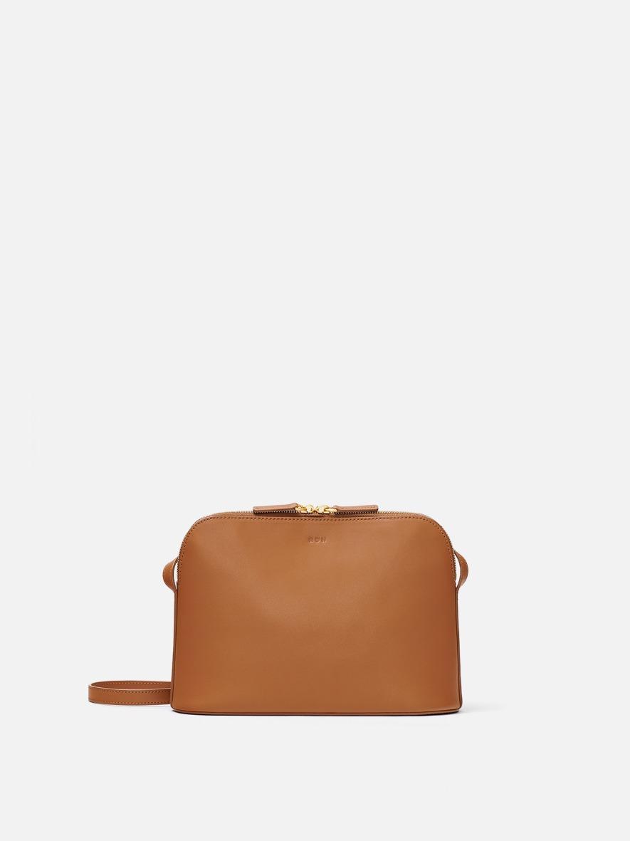 Around W medium shoulder bag Creamy tan