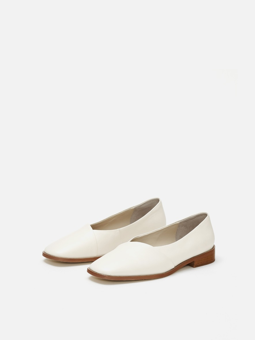 Layer flat shoes Ivory