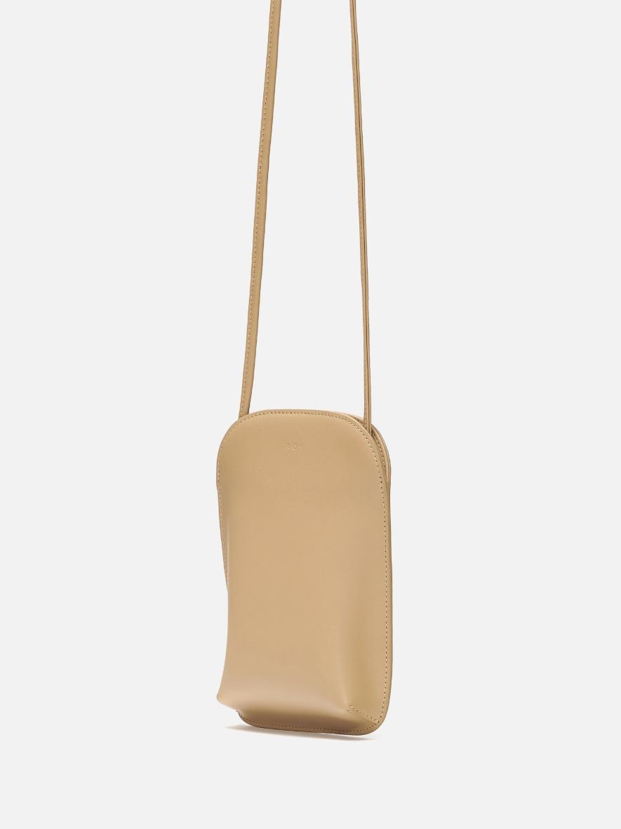 [1+1] Pocket crossbody wallet light ocher