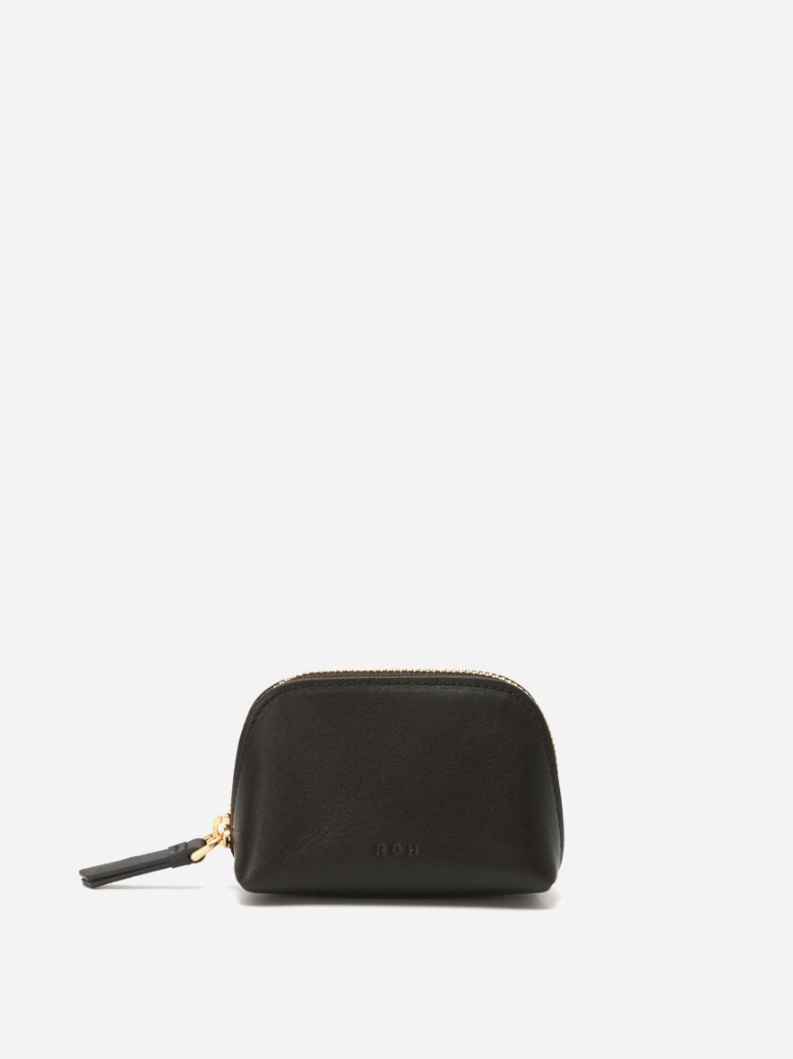 [1+1]Aline small coin zip wallet Umber