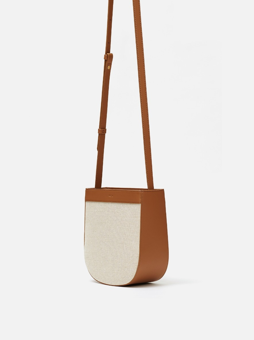 Uline fabric medium crossbody bag Creamy tan