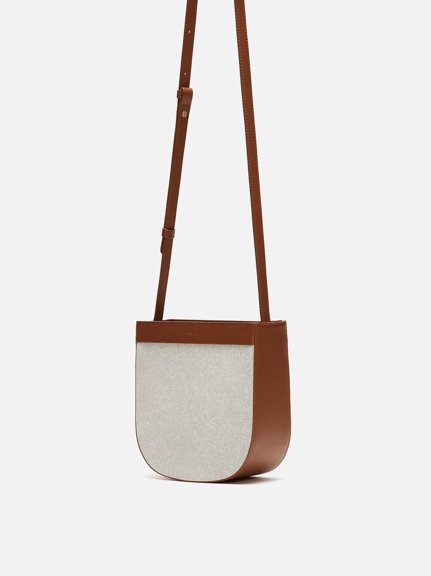 Uline medium crossbody bag Ecoclean Smoky tan