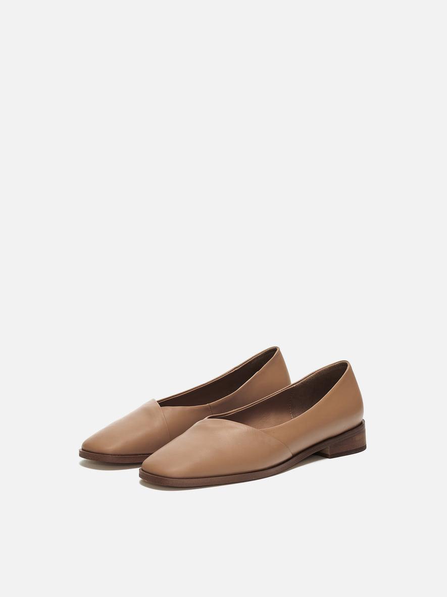 Layer flat shoes Caramel