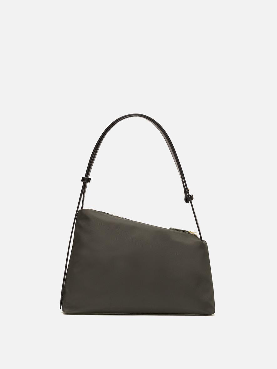 Rowie nylon large shoulder bag Khaki