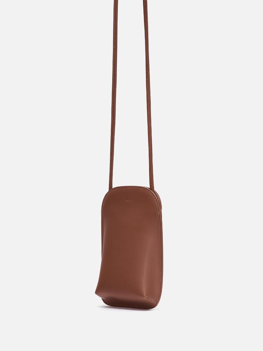 Pocket crossbody wallet Smoky tan
