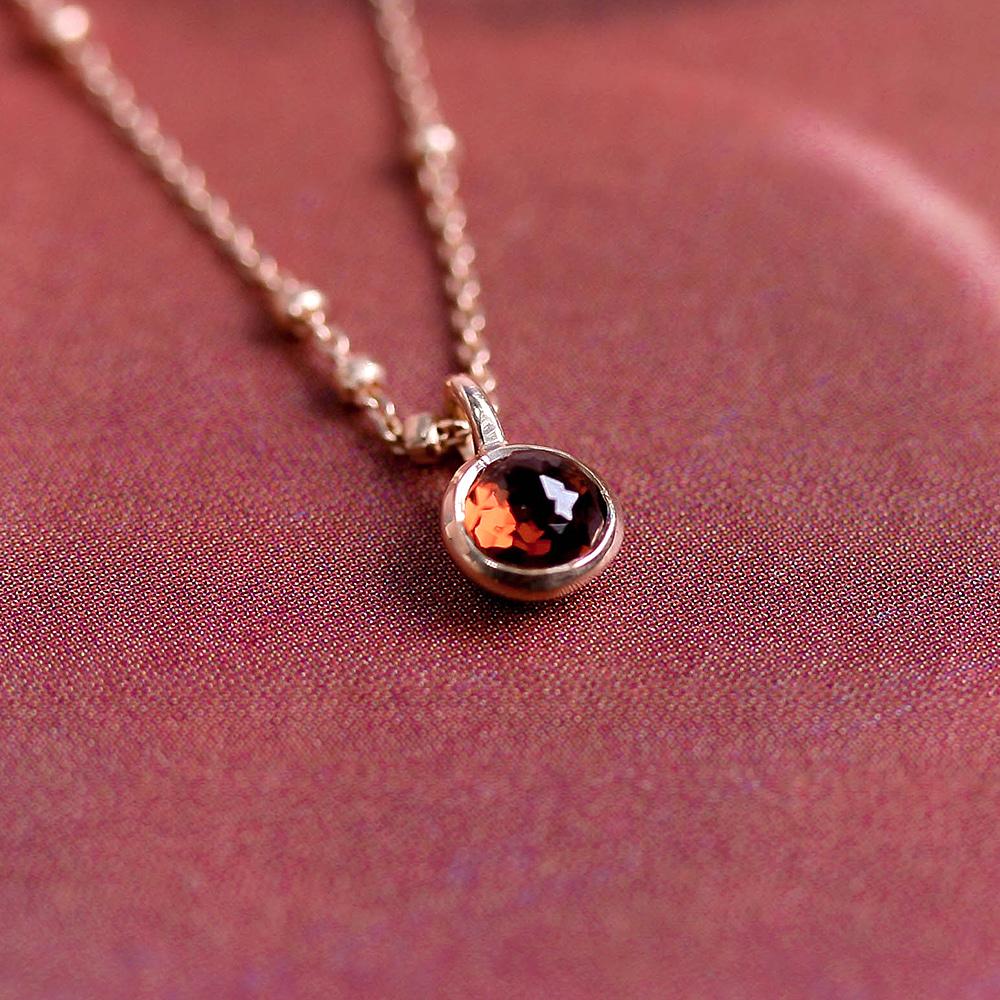 [Silver 925] Garnet Daily Necklace