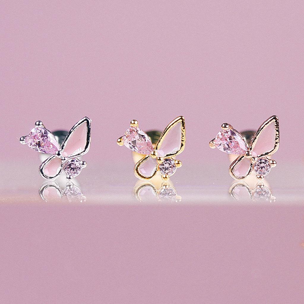 [PINK] Phoenix Piercing/Earring
