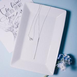 [Silver 925] Simple Bar Necklace
